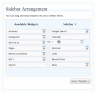 Sidebar Arrangement interface